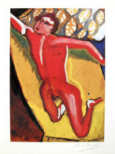 MARC CHAGALL HAND SIGNED * THE RED NUDE * LITHOGRAPH