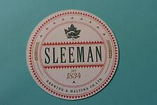 Beer Coaster ~^~ Sleeman Brewing & Malting Co ~ Guelph, Ontario ~^~ Beaver Logo