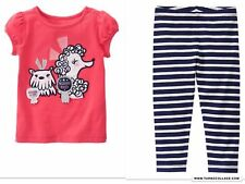 NEW GYMBOREE Girls Dog Best  In Show  Outfit with Leggings   SIZE 3T