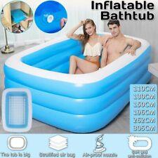 Inflatable Swimming Pool Adults Kids Pool Bathing Tub Outdoor Indoor