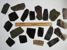 MICA FOR CRAFTS, SMALL BLACK EXTRA-THICK MICA SHEETS,  1/2 # Pack of 20 +/-