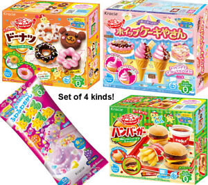 Popin Cookin kracie DIY Candy kit Donut Burger Festival Neruneru 4 Kinds set