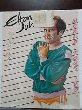 Elton John Concert Program 1980 World Tour with ticket stub 10/24/80 Oakland Ca.