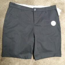 Womens Black Bermuda Stretch Shorts Croft & Barrow Sz 18 MidRise Cotton CUTE