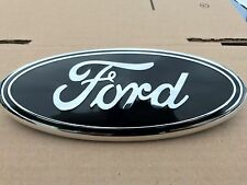 NEW 2005 - 2007 FORD F-350 BLACK OVAL FRONT GRILLE 9 INCH LOGO 4L3Z-1542528-AB