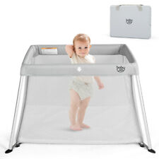 Portable Baby Playpen Playard Lightweight w/ Travel Bag For Newborn Toddler Gray