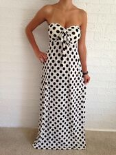 Women Polka Dotted Halter Casual Boho Maxi Summer Spring Dress Size 12,14