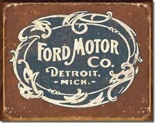 Ford Tin Sign Distressed Metal Vintage Classic Car Wall Art Garage Home Decor