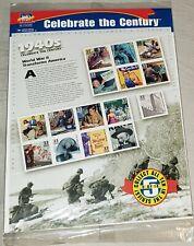 Celebrar el siglo década de 1940 Hoja de quince 33 Centavos Estampillas Postales Scott 3186