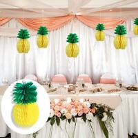 Hawaiian Honeycomb Pineapple Paper Pendant Rainbow Hanging Party Decor New