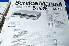 Service Manual for Technics SL-P2, Original