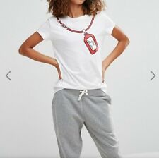Moschino Short Sleeve Crew Neck Regular T-Shirts for Women