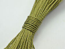 50 Meters Olive Green Waxed Polyester Twisted Cord String Thread Line 1mm