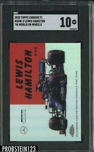 2020 Topps Chrome F1 '51 World On Wheels Lewis Hamilton SGC 10 GEM MINT