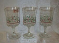Libbey Glass Christmas & Winter Table Wine Glasses Pieces