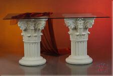 Griechischer Esstisch Medusa Mäander Wohnzimmertisch Tisch Glastisch Säule 180cm