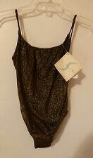 NWT Turquoise Israel BROWN & GOLD Swim One Piece Bathing Suit Size 12 (42 EURO)