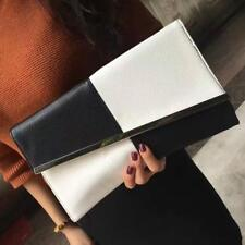 Women Envelope Clutch Bag Black White Envelope Bag Large Capacity Party Clutch