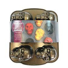Nordic Ware Haunted Skull Cakelet Pan 5 Cups 1.18 Liters Bundt Cake Mold NEW