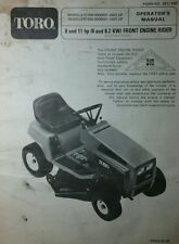 TORO Front Engine Riding Lawn Mower Tractor 8 & 11 hp 57360 Owners Manual 32p
