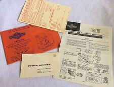 Briggs & Stratton 1961 Engine Operating Instructions & Registration Card Vtg