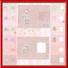 A5  LUXURY BABY GIRL INSERTS FOR CARDS  X PACK OF 12  WITH VERSE 12 BLANK