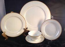 Noritake China Guilford Five (5) Piece Place Setting White w/Gold Trim #5291