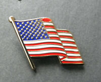 USA WAVY FLAG USA LAPEL PIN BADGE 1 INCH
