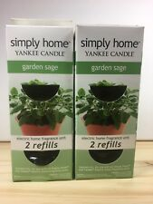 Garden Sage Yankee Home Candle Electric Scent Plug Refill 4 bottles 2 boxes New