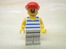 LEGO Figur Paradisa Mann blau weiß gestreiftes Hemd par047  6597