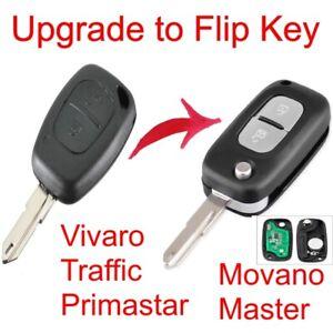 Flip remote key upgrade Vivaro Traffic Primastar Movano Master 433mhz 2 btn fob