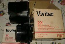 moltiplicatore di focale 2x Vivitar fujica F ST Tele Converter MC NUOVO MINT