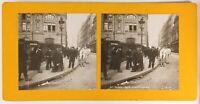 Francia Parigi Rue Amsterdam, Foto Stereo Vintage Analogica Ca 1900