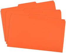 Blue Summit Supplies Orange File Folders, 1/3 Cut Tab, Legal Size, Great for Org
