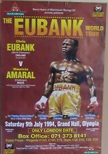 "40x60"" SUBWAY POSTER~Chris Eubank Vs Mauricio Amaral 1994 Boxing World Tour Rare"
