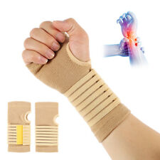 Sports Knitted Palm Wrist Support Brace Adjustable Bandage Hand Strap for Sprain