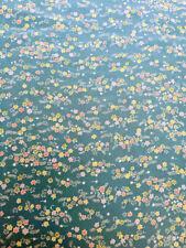 VINTAGE JAPANESE KIMONO FABRIC 48'' SILK BLUE SMALL FLOWER