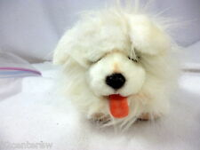 Adorable Dog Toy Fur Real Friends White Maltese Bichon Havanese Dog Barks