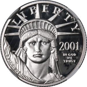 2001-W Platinum American Eagle $25 NGC PF70 Ultra Cameo STOCK
