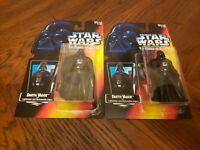 MOC Star Wars Lot of2 POTF Darth Vader W/Lightsaber&Removable Cape Action Figure