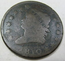 1810 Large Cent Coin Grades Good (#94D)