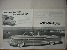 1953 Buick Roadmaster Custom Built Great Double Page Vintage Print Ad 10564