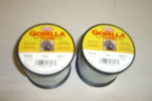 2 BERKLEY GORILLA TOUGH SINKING SUPER BRAID FISHING LINE 50 LB. 300 YD EA.FREESH