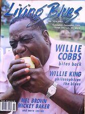 LIVING BLUES MAGAZINE #154 (2000) Willie Cobbs WILLIE KING Spann MICKEY BAKER