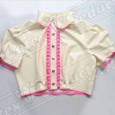 Girly Sissy Latex Blouse With Ruffles Rubber GUMMI Shirt Shrug Bluse