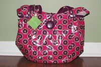 Vera Bradley VERY BERRY PAISLEY Retired Frill BUTTON UP Shoulder Tote Purse NWT
