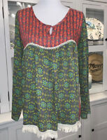 Live Happy Boho Top From Natural Life Size S/M