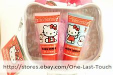 HELLO KITTY By SANRIO 4pc BATH TIME WASH+LOTION+LOOFAH+KITTY HEAD SHAPED TOTE
