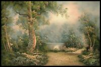 """36""""x24"""" Oil Painting on Canvas, Lakeland Landscape, Genuine Hand Painted"""