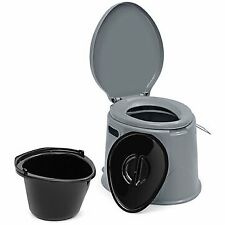 Portable Toilet Seat Travel Camping Hiking Outdoor Indoor Potty Commode - GREY